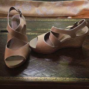 Clarks Wedge sandal - Tan